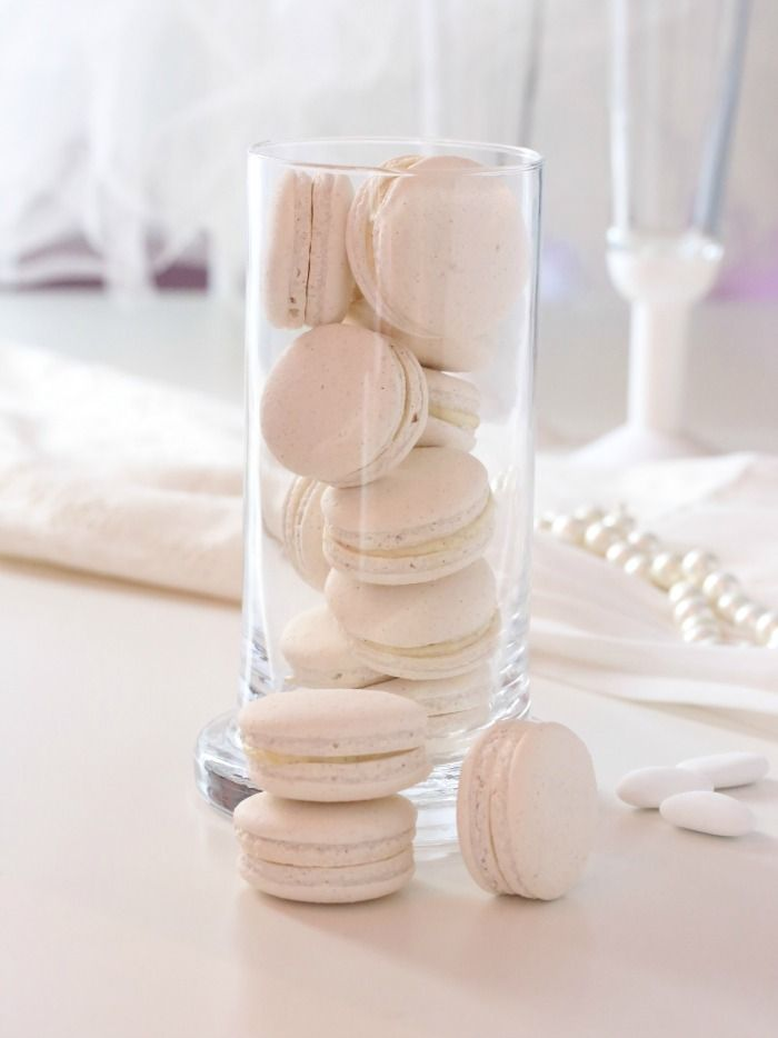 Vanilla Macarons made with love