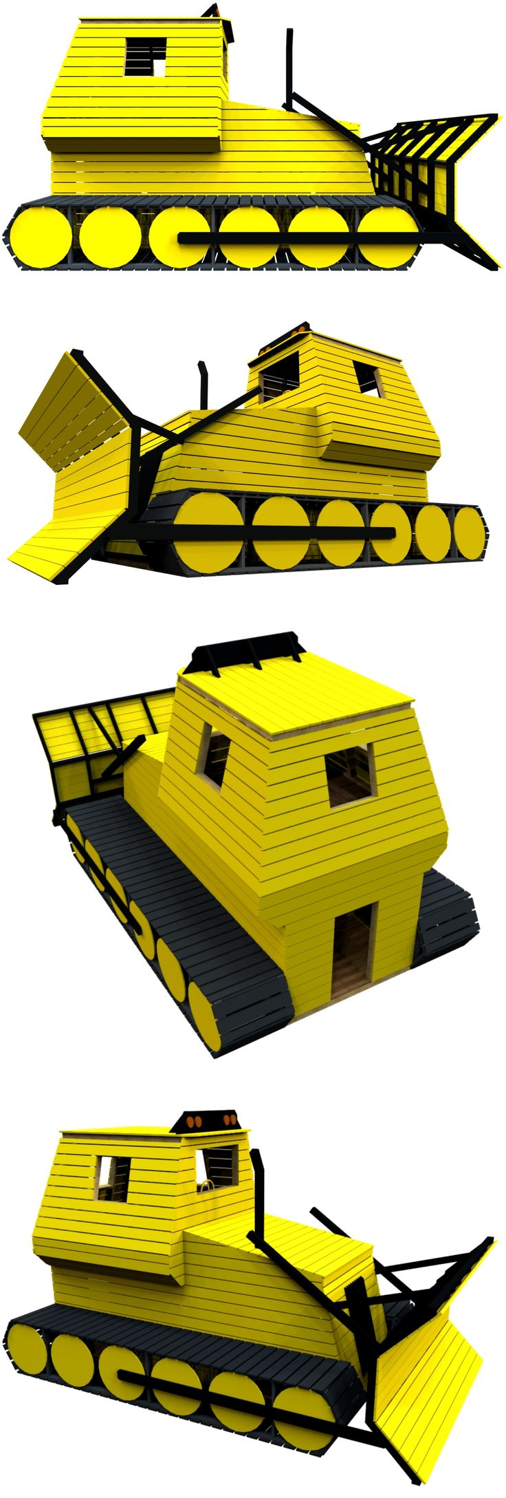 The bulldozer playhouse plan, hosted on paulsplayhouses.com.