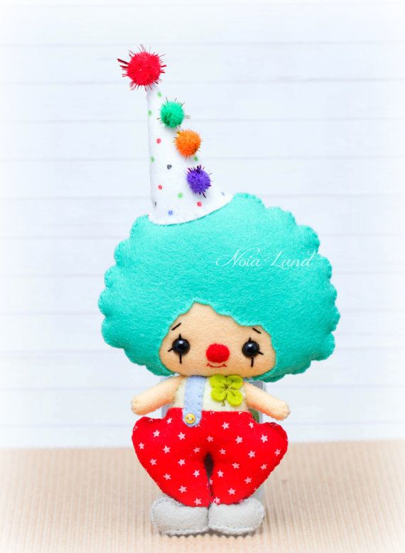 PDF Pattern. Clowns. Plush Doll Pattern by Noialand on Etsy