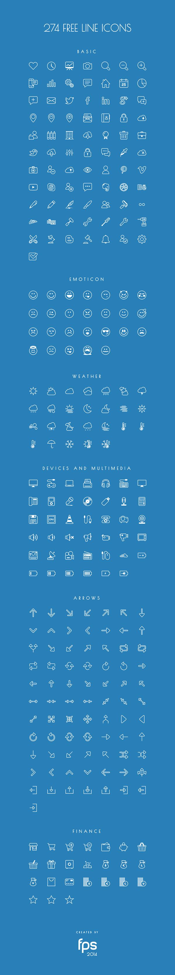 274 Vector Line Icons for free on Behance                                                                                                                                                                                 Mehr