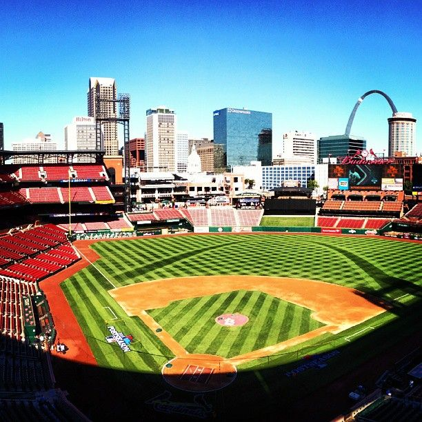 Busch Stadium, the home of the St. Louis Cardinals