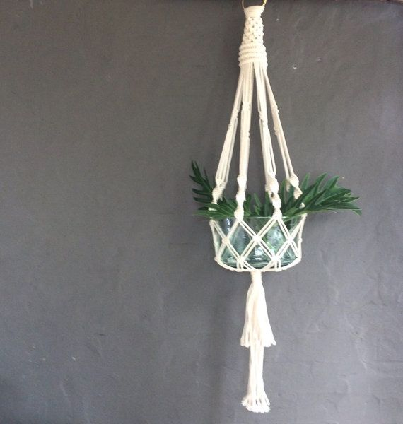 This natural cotton macrame plant hanger is very robust yet softens the edges of any space. The hanger does not include the bowl, making it easy