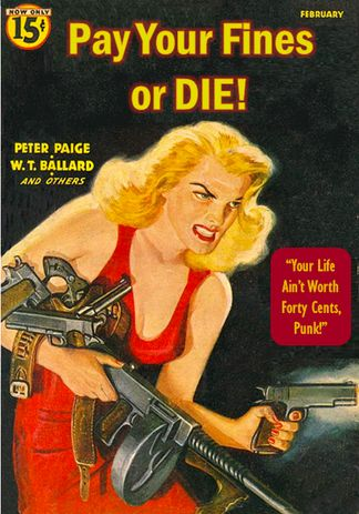 """Pay Your Fines or DIE! """"Your Life Ain't Worth Forty Cents, Punk!"""" Librarian Literature"""