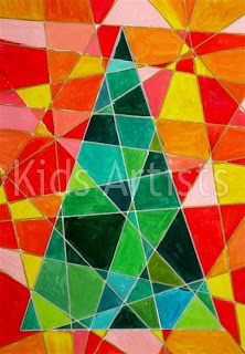 Kids Artists: Cubist Christmas tree