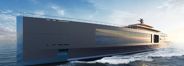 """Sinot Presents Insane 120-Meter-Long Yacht Concept """"Nature"""""""