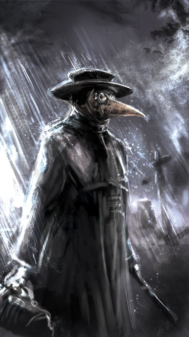 """Plague Doctor: """"A plague doctor was a special medical physician who treated those who had the plague. They were specifically hired by towns that had many plague victims in times of epidemics."""""""
