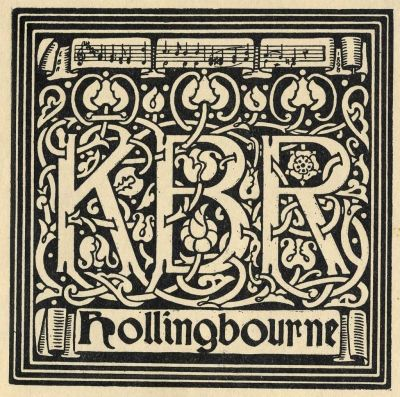 Bookplates by  E. Bengough Ricketts for K. B. R, 1895c..