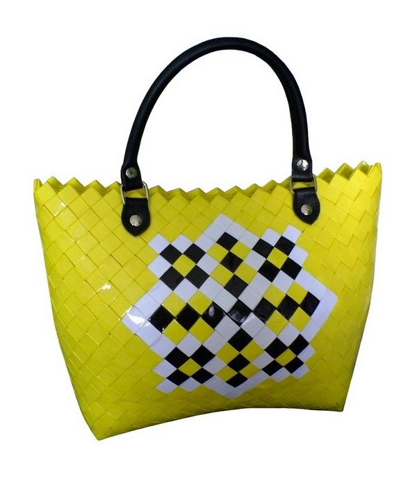 spring breeze - handmade paper handbag