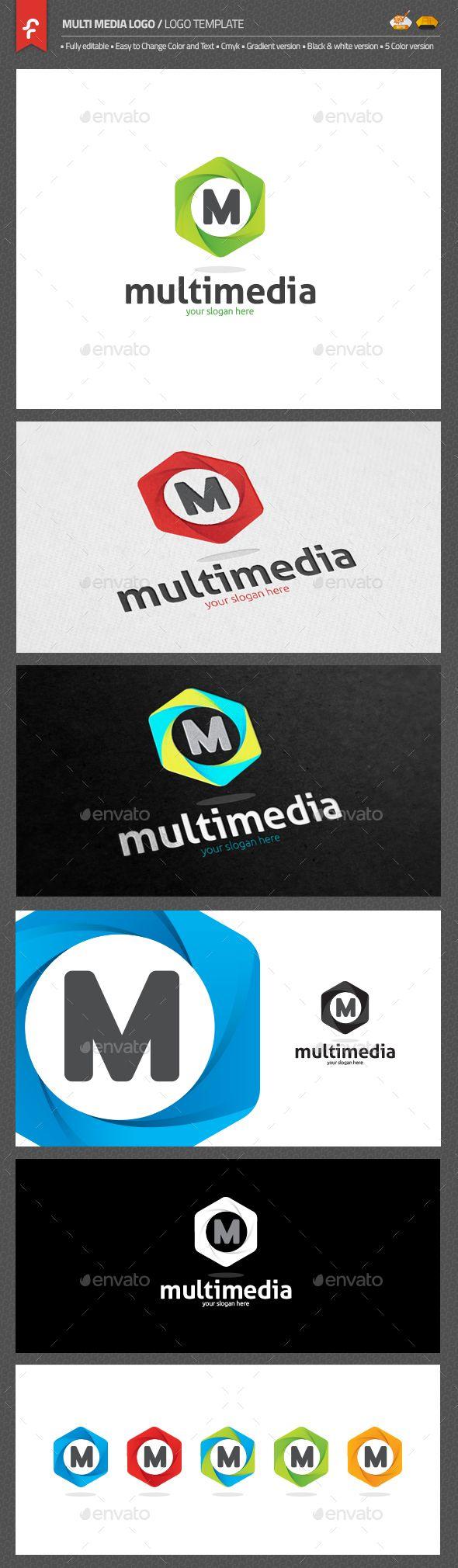 Multimedia Logo Template AI Illustrator. Download here: https://graphicriver.net/item/multimedia-logo/17626084?ref=ksioks