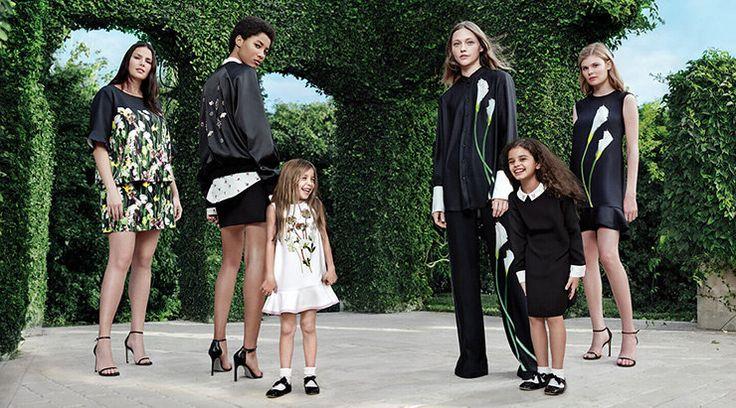Саша Пивоварова с дочерью Мией в рекламе демократичной коллекции Виктории Бекхэм | Журнал Harper's Bazaar