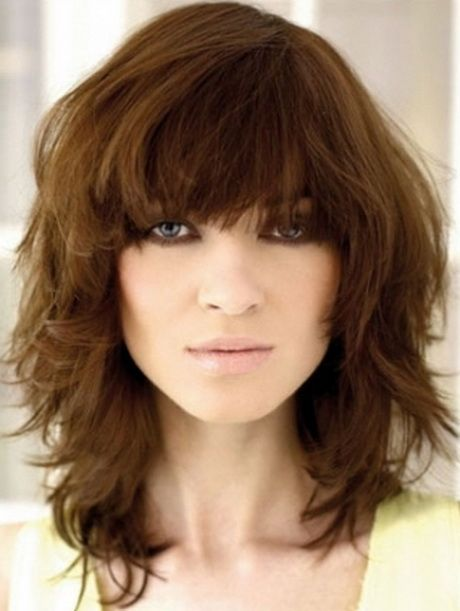 Choppy Medium Length Hairstyles | choppy hairstyle with a bang | Haircuts Hairstyles 2014 and Hair …