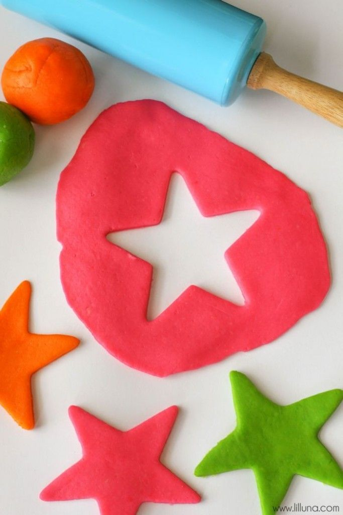 Edible Play Dough  Try tapioca starch instead of cornstarch.