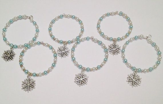 Silver snowflake napkin rings serviette rings by DianaSianCrafts