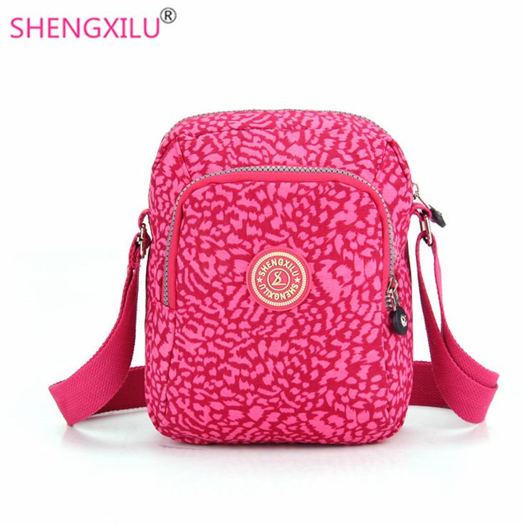 Shengxilu casual women shoulder bags nylon pink leopard brand female handbags girls messenger bags small crossbody women bags #men, #hats, #watches, #belts, #fashion