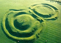 Seat of ancient Irish kings, the Hill of Tara, the mound in the middle on the left is known as 'The Banqueting Hall'.