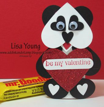Add Ink and Stamp: Tutorial for Panda Candy Bar Wrap