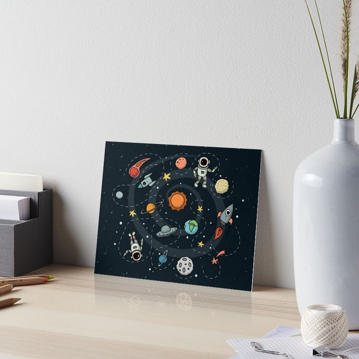 Outer Space Illustration by Gordon White | Gallery Board Available in 3 Sizes @redbubble  --------------------------- #redbubble #sticker #frameprint #gallery #galleryboard #wallart --------------------------- http://www.redbubble.com/people/big-bang-theory/works/22569162-outer-space-planetary-illustration?asc=u&p=gallery-board&rel=carousel