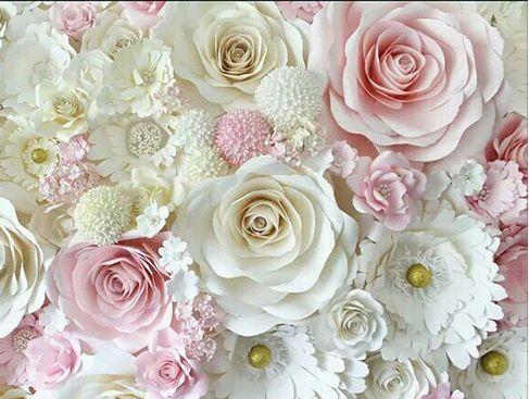 Большие розы из бумаги мастер класс