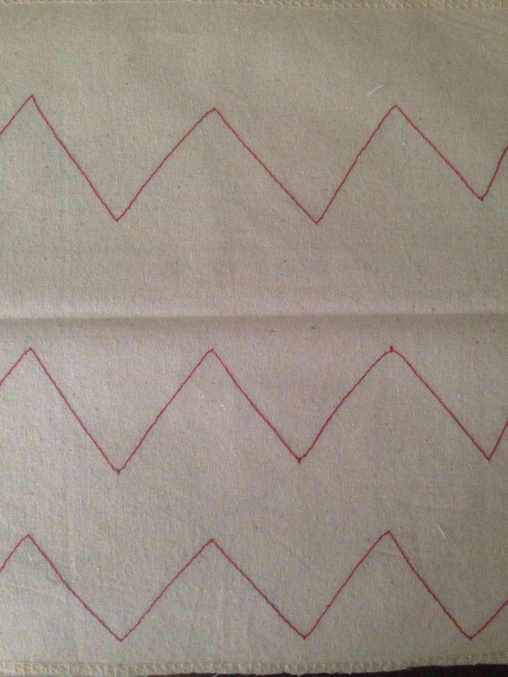 Practica de costura en zig zag