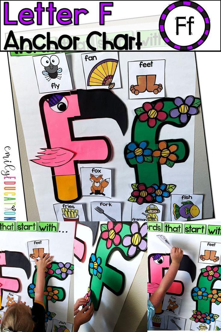 Alphabet Anchor Chart Letter F Letter f, Preschool