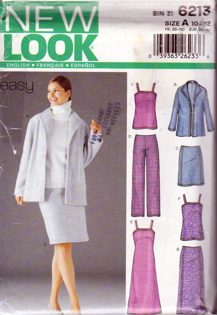 271 best ladies plus size clothing patterns images on pinterest new look 6213 misses wardrobe sewing pattern size 10 to plus size 22 jackets spaghetti strap tops back zip skirt long dress jeuxipadfo Choice Image