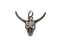 Small silver ram skull pendant