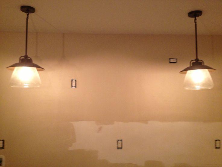 Kitchen light fixtures...modern farmhouse rustic.  LOL