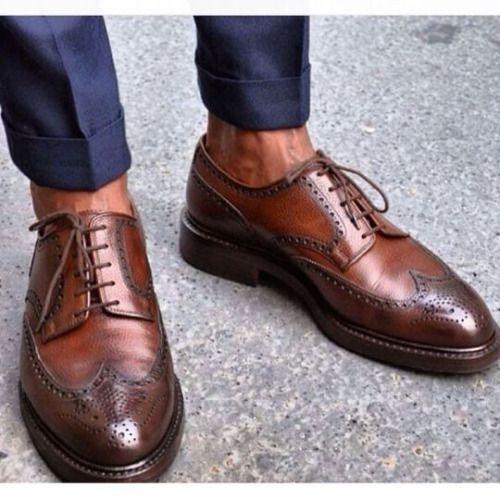 http://chicerman.com  gentlemansessentials:  Wing Tips  Gentlemans Essentials  #menshoes