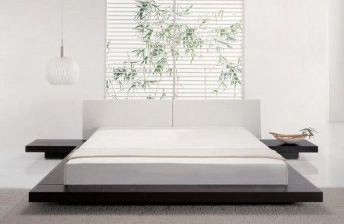 Minimalist floating bed