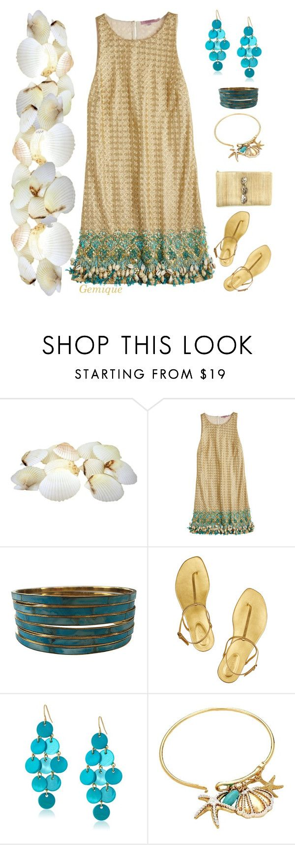 """""""Sea Shell Summer..."""" by gemique ❤ liked on Polyvore featuring Calypso St. Barth, Sergio Rossi, Kenneth Cole, women's clothing, women, female, woman, misses and juniors"""