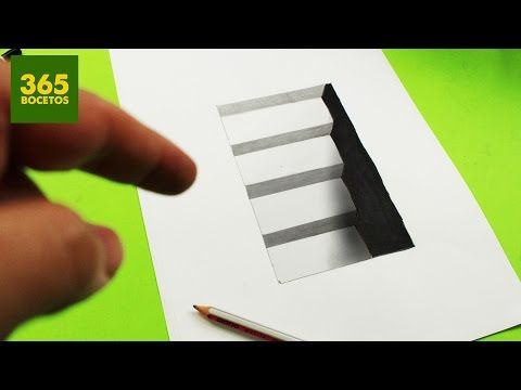 INCREIBLE TRUCO - Como dibujar un hoyo en 3D paso a paso - How to draw a 3d hole - YouTube
