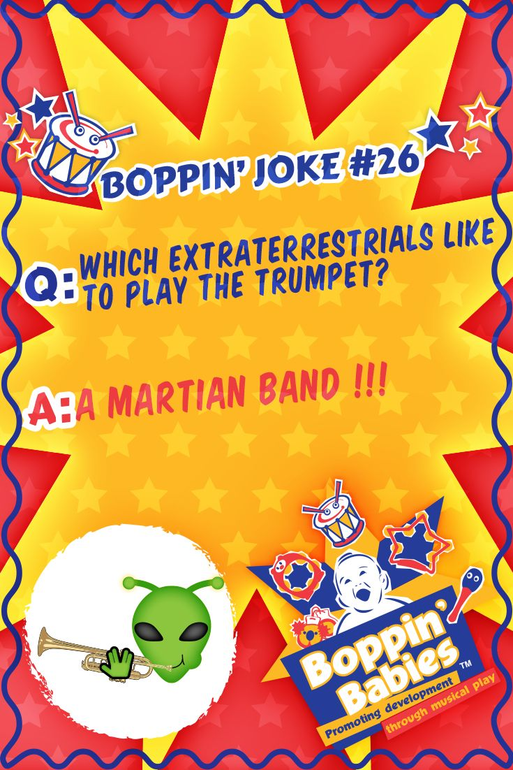 Which extraterrestrials like to play the trumpet? A MARTIAN band ! #FridayFunny