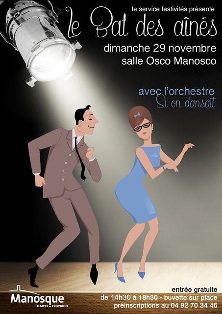 Le bal des aînés #danse #manosque #affiche #bal