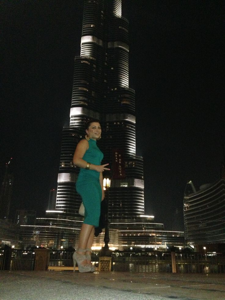 Dubai, in front of the tallest building in the world