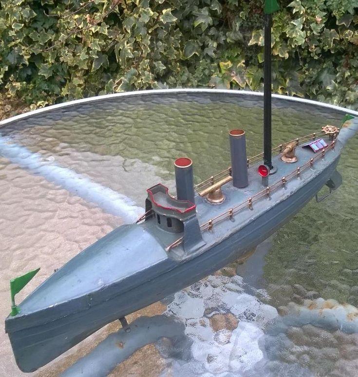 Carette 1900s torpedo boat 41cm clockwork works Germany  bing battleship