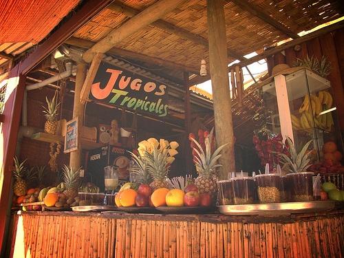 colores  y sabores tropicales