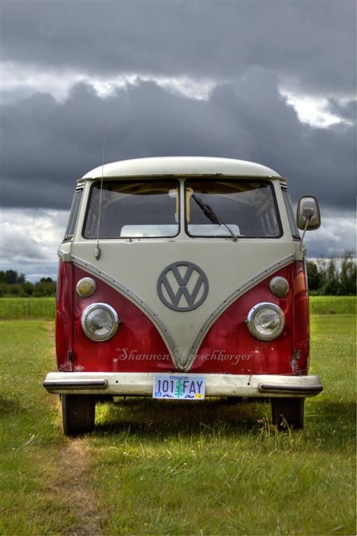 VW Print, 8 X 12 Country Bus