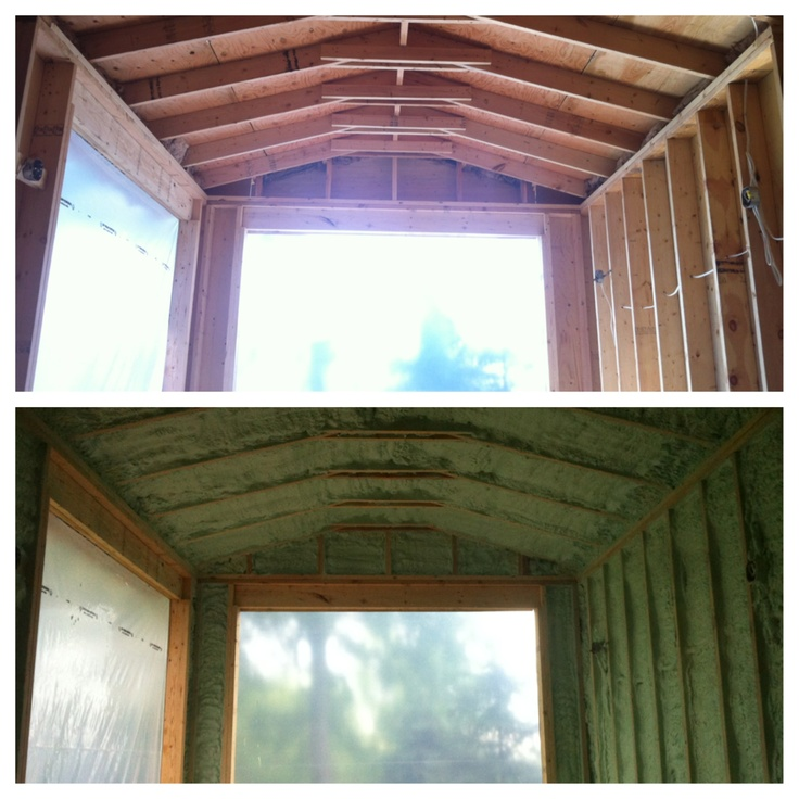 Another beautiful #sprayfoam project completed by #foamit