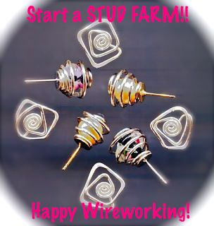 WireWorkers Guild: STUD EARRINGS #Wire #Jewelry #Tutorials