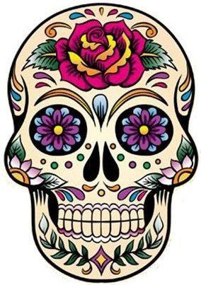 Día de los muertos Skull tatuaje temporal por WildLifeDream