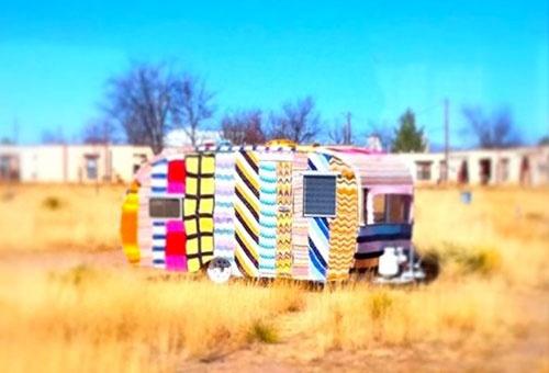 Caravane: Vintage Trailers, Old Campers, Art Yarns, Crochet, Street Art, Yarnbombing, Magda Sayeg, Yarns Bombs, Knits