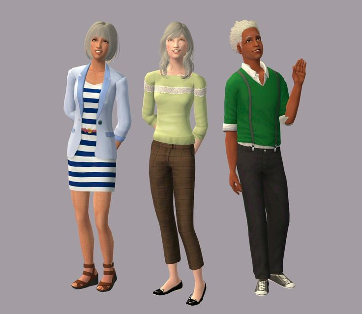 Three Elder Conversions for TS2Good news everyone! I learned how to do elder clothing conversions today (for full body anyways, this is the quickie method from what I gathered) and it was absurdly easy.  I immediately knew a few outfits I wanted my...