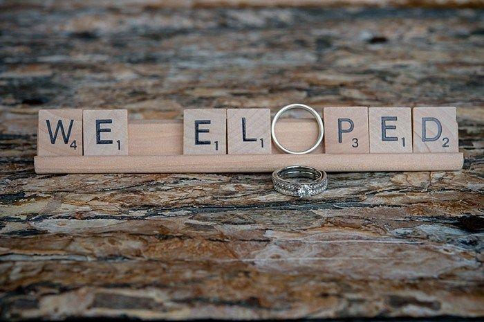 scrabble message | Emerald Lake winter elopement | Orange Girl
