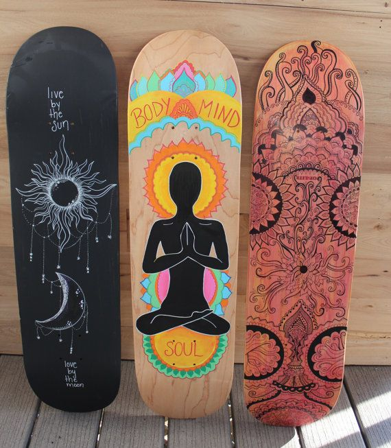 Diy Skateboard Design: Hand Painted Skateboard By AvaDesignz On Etsy, $100.00