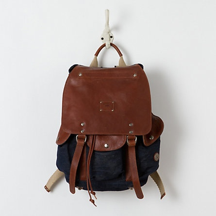 Washed Canvas Rucksack, Blue / terrainBackpacks, Style, Canvas Rucksack, Terrain Wash, Wash Canvas, Accessories Bags, Leather Rucksack, Blue Things, Canvases