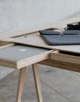 Hipdesk -plywood desk / @bellafosterblog