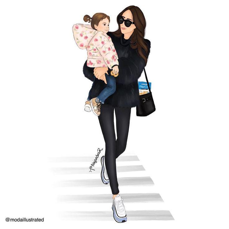 ведь картинки фэшн иллюстрации мама и дочь толстого несколько