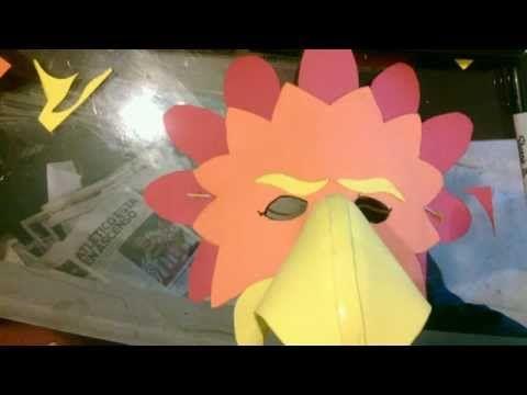 Máscara pájaro con goma Eva - YouTube