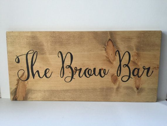 Wood Sign  Salon Station Decor  The Brow Bar  by HouseOfJason