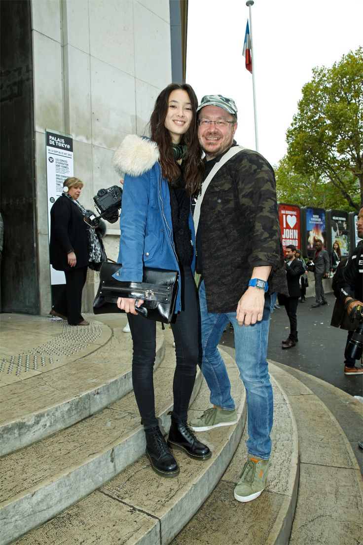 Mr Coolpool: Tiana Tolstoi and me at the steps of Palais de Tok...